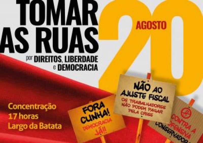 [Nota oficial do PSOL sobre as mobilizações do dia 20/08]