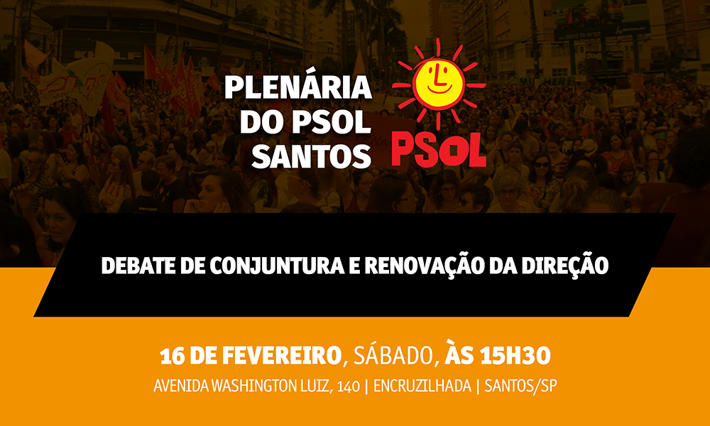 Plenária do PSOL Santos